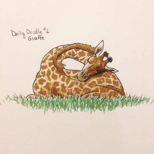 No.2 Giraffe #dailydoodle #giraffe #sketch