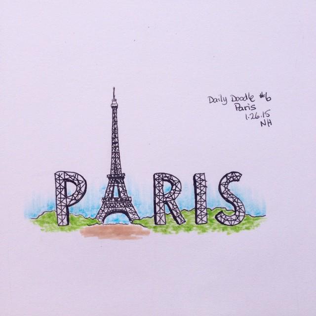 No.6 Paris #dailydoodle #sketch #paris #drawing