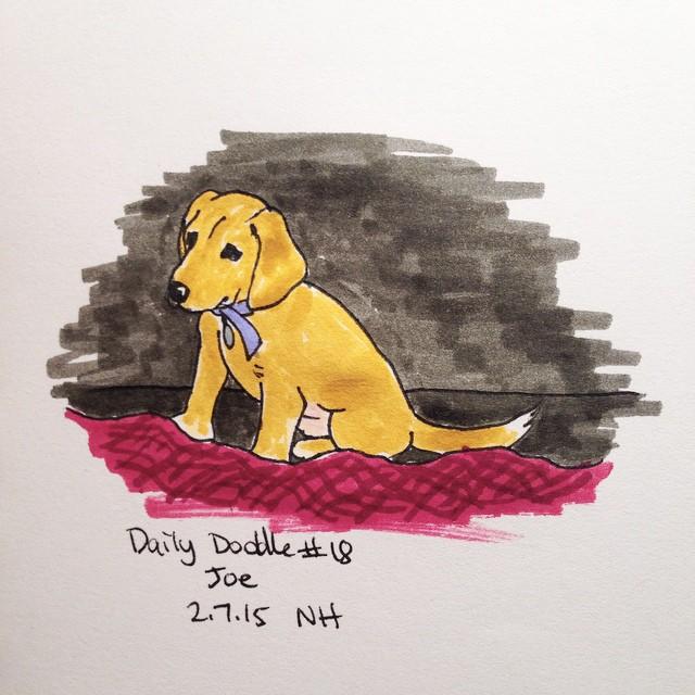 No.18 Joe #dailydoodle #sketch #puppy
