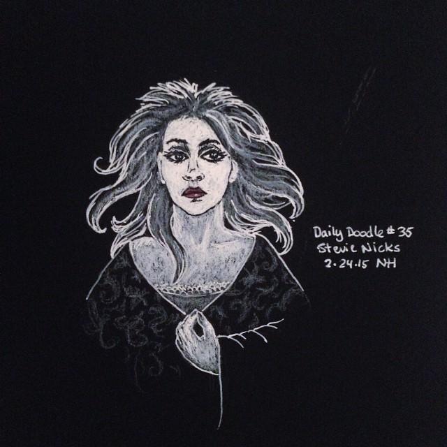 No.35 Stevie Nicks #dailydoodle #doodle #sketch #portrait #bnw #drawing