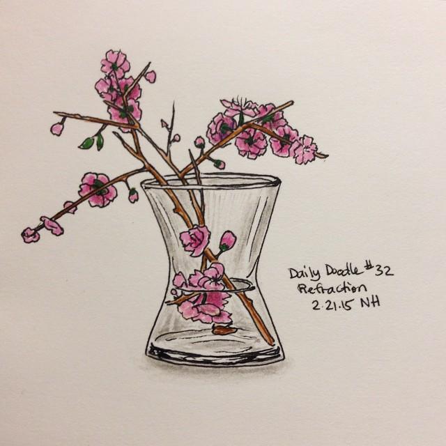 No.32 Refraction #dailydoodle #doodle #sketch #still-life #flowers