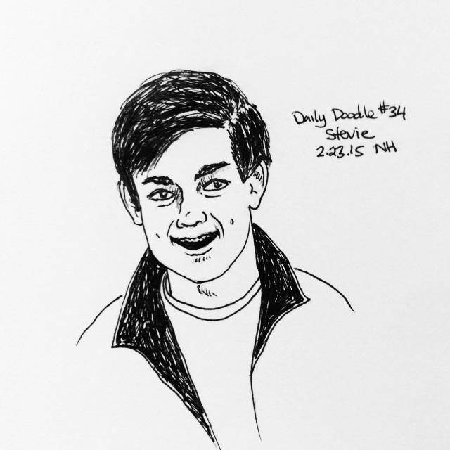 No.34 Stevie #dailydoodle #doodle #sketch #portrait