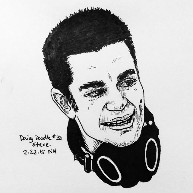 No.33 Steve #dailydoodle #doodle #sketch #portrait