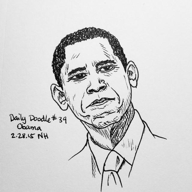No.39 Obama #dailydoodle #doodle #president #obama
