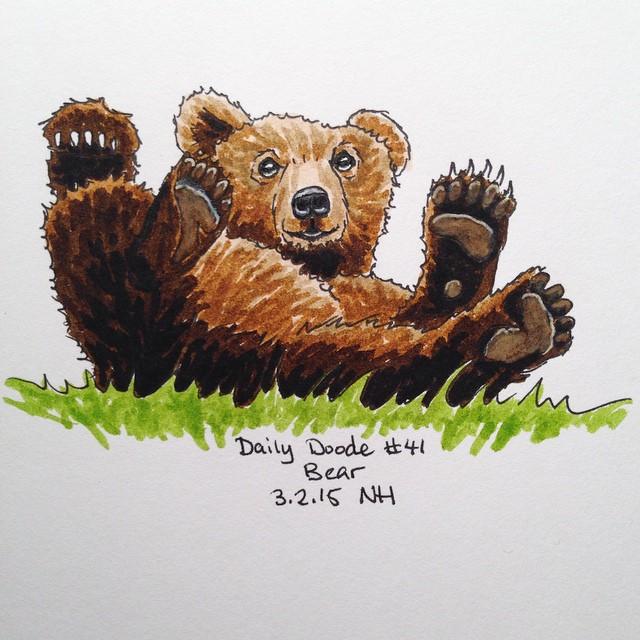 No.41 Bear #dailydoodle #doodle #sketch #animal #bear