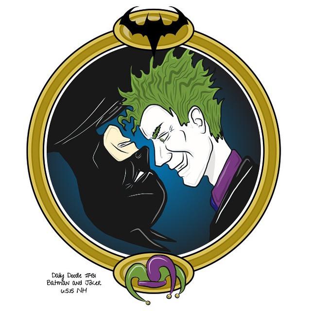 No.131 Batman and Joker patreon.com/creation?hid=2626030 #dailydoodle #doodle #sketch #drawing #artwork #batman #joker #comic #comicfan #yinyang