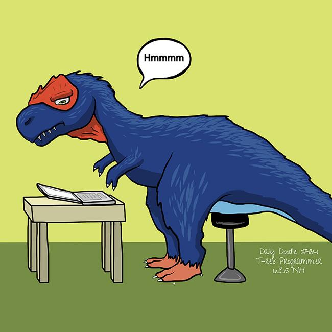 134-t-rex-programmer-artwork-illustration-drawing-sketch