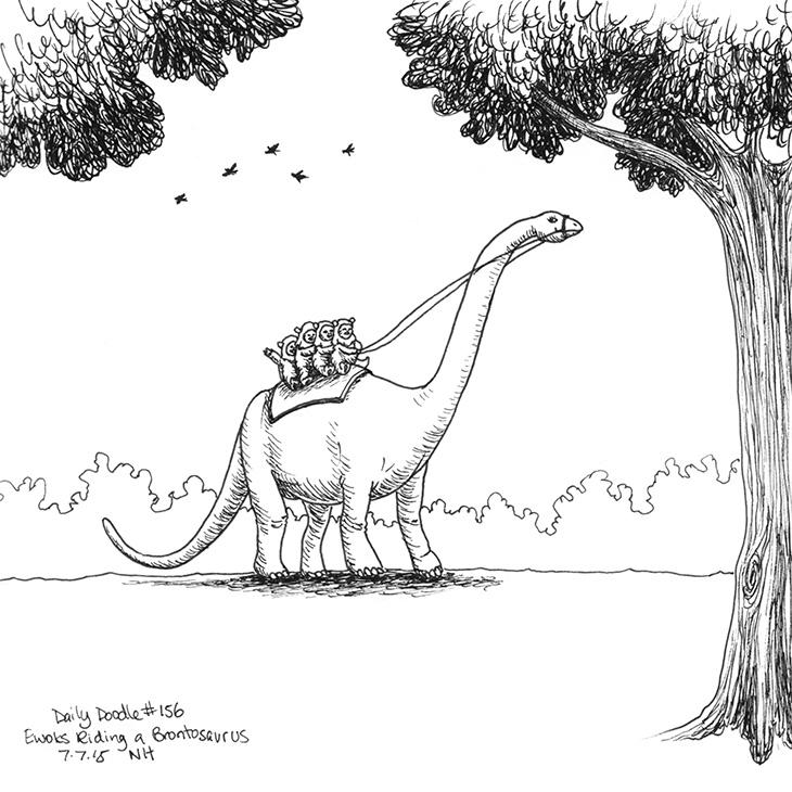 156-ewoks-riding-brontosaurus